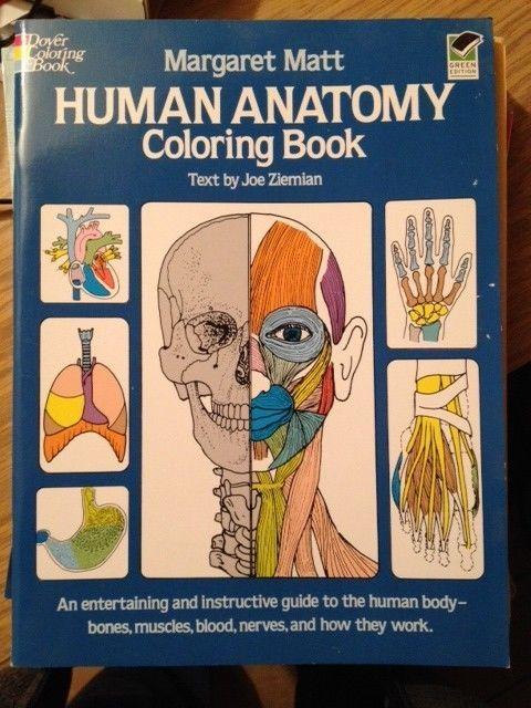 Coloring Books Human Anatomy Book Dover Children S Science Margaret Matt Joe Ziemian 0000486241386 Com