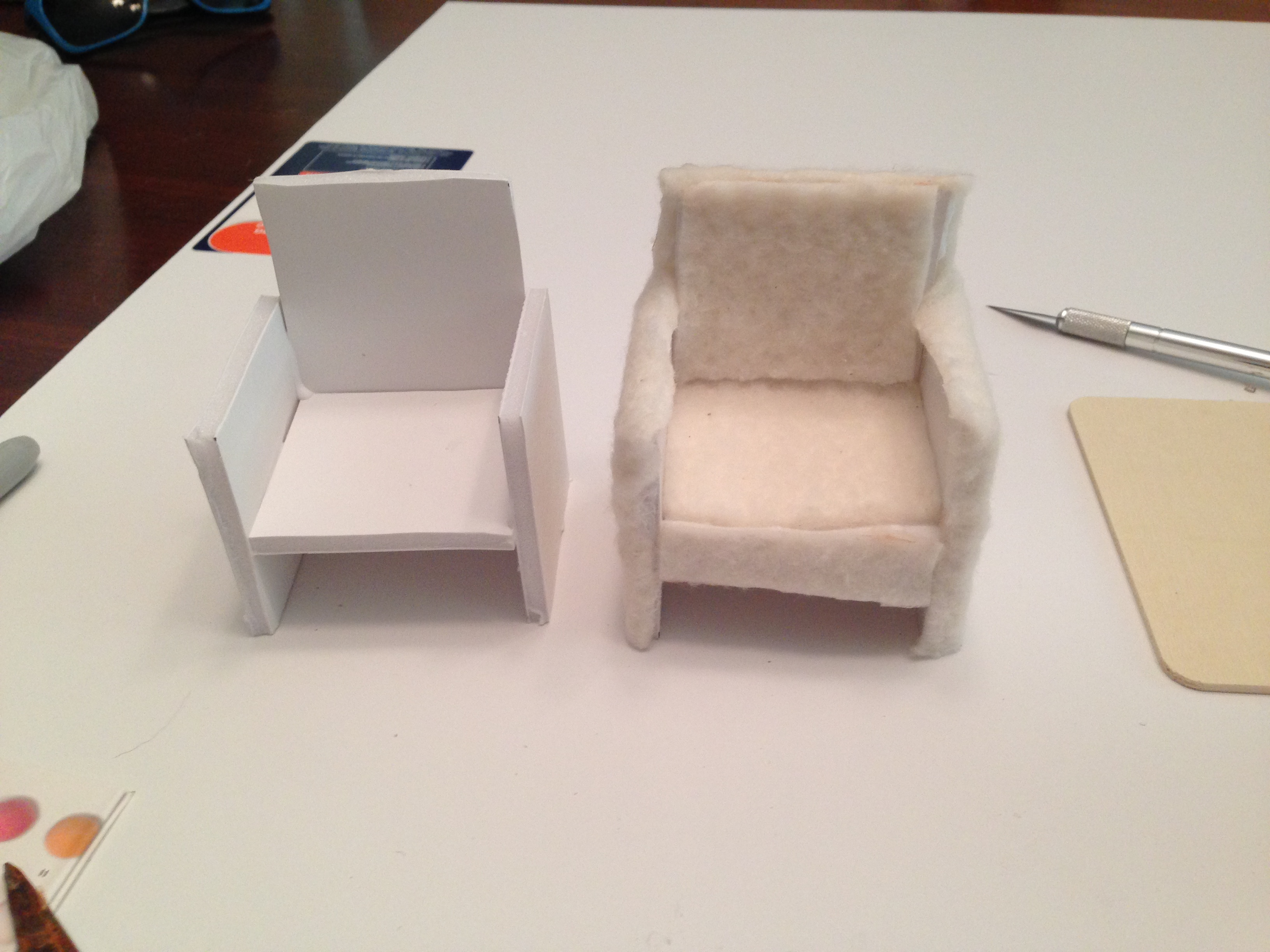How To Make A Dollhouse Chairsort Of