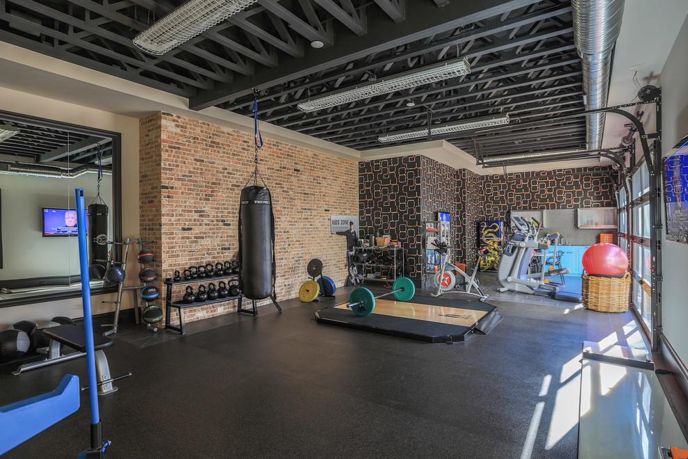 Home gym design ideas home gym contemporary with utility kitchen